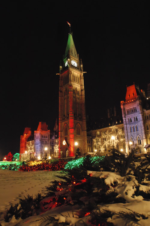 Christmas Lights Parliament Hill Ottawa