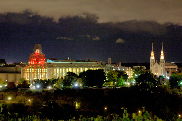 National Gallery Ottawa at night