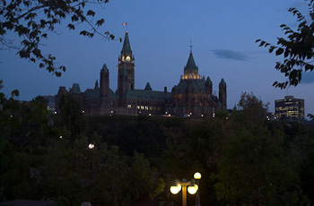 Parliment Hill at Dusk