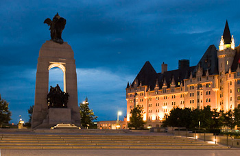 Christmas Wreath on Parliement Hill Ottawa